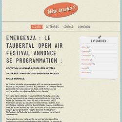 Emergenza : Le Taubertal Open Air Festival annonce se programmation !