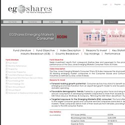 Emerging Global Advisors - EGShares - ECON - Emerging Markets Consumer