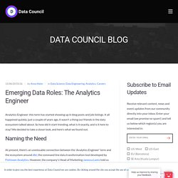Emerging Data Roles: The Analytics Engineer