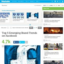 Top 5 Emerging Brand Trends on Facebook