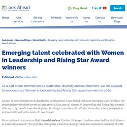 Emerging talent celebrated with Women in Leadership and Rising Star Award winners