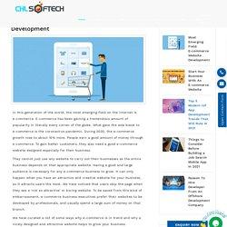 Most Emerging Field: E-commerce Website Development