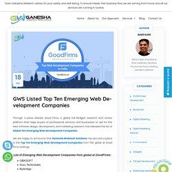 GWS Listed Top Ten Emerging Web Development Companies