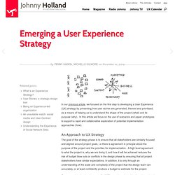 Emerging a User Experience Strategy