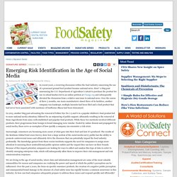 FOOD SAFETY MAGAZINE - OCT 2014 - Emerging Risk Identification in the Age of Social Media