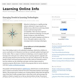 Emerging Trends in Learning Technologies