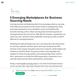 Facts about sourcing in 5 major emerging markets
