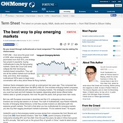 The best way to play emerging markets