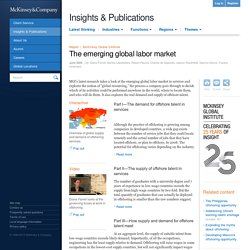 The emerging global labor market
