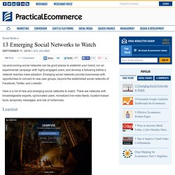 13 Emerging Social Networks to Watch