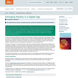 Emerging Practice in a Digital Age
