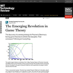 The Emerging Revolution in Game Theory
