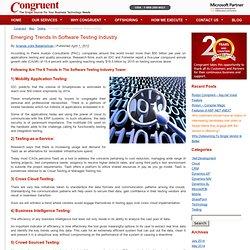 Emerging Trends in Software Testing Industry – Congruent