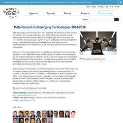 World Economic Forum - Meta-Council on Emerging Technologies 2014-2016