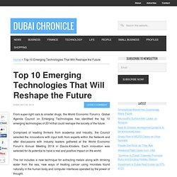 Top 10 Emerging Technologies That Will Reshape the Future