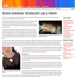 reSkin Emerging Technology Lab & Forum « Australian Network for Art and Technology
