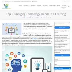 Top 5 Emerging Technology Trends in e-Learning - Virasat Solutions Blogs