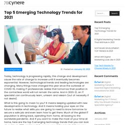 Top 5 Emerging Technology Trends for 2021
