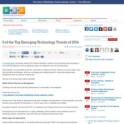 5 of the Top Emerging Technology Trends of 2014