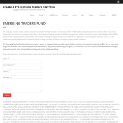 Emerging Traders Fund