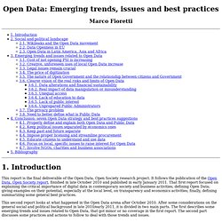 Open Data: Emerging trends, issues and best practices