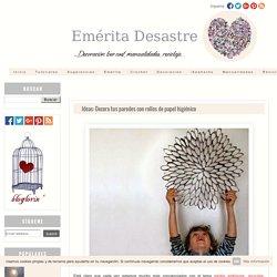 Ideas: Decora tus paredes con rollos de papel higiénico