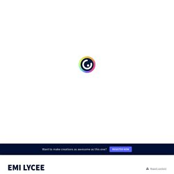 EMI LYCEE by jfiliol.pro on Genially