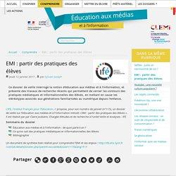 EMI : partir des pratiques des élèves