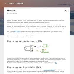 EMI Vs EMC