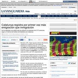 Catalunya registra por primer vez más emigración que inmigración