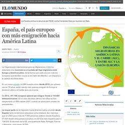 España, el país europeo con más emigración hacia América Latina