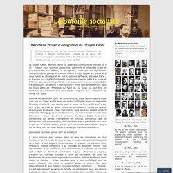 1847-09 Le Projet d'émigration du citoyen Cabet