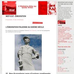 Mot-clé - émigration - L'Histoire Géo au lycée Vinci
