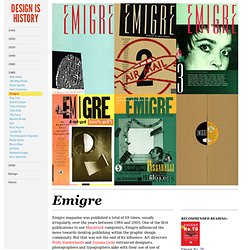 Emigre : Design Is History