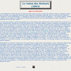 emile Zola critique d 'art ; Le Salon des Refusés