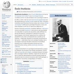 Émile DURKHEIM - Sociologue