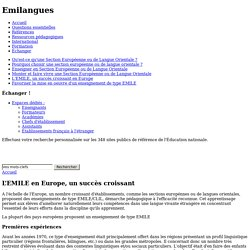 L'EMILE en Europe, un succès croissant