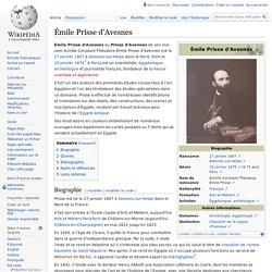 Émile Prisse d'Avesnes