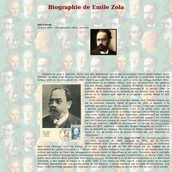 Emile Zola - Biographie