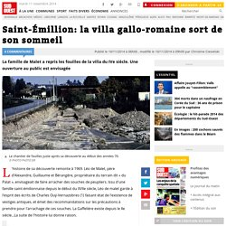 Saint-Émillion: la villa gallo-romaine sort de son sommeil