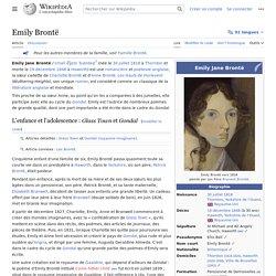 Emily Brontë - Wikipedia