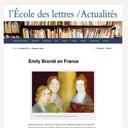 Emily Brontë en France - École des Lettres