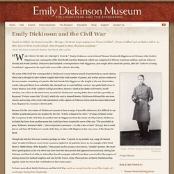 Emily Dickinson and the Civil War