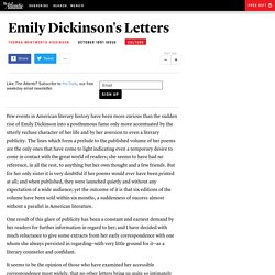 Emily Dickinson's Letters