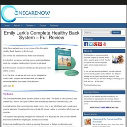 Emily Lark's Back To Life System Review - Is It For You?