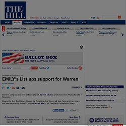 EMILY's List ups support for Warren - The Hill's Ballot Box