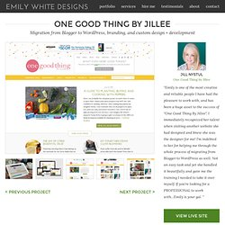 One Good Thing by Jillee | Emily White Designs