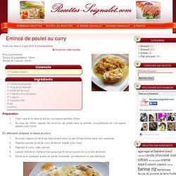 Emincé de poulet au curry - Recettes-Seignalet