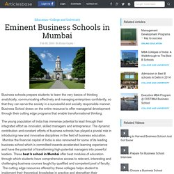 Eminent Business Schools in Mumbai