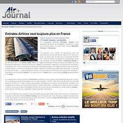 Emirates Airlines veut toujours plus en France